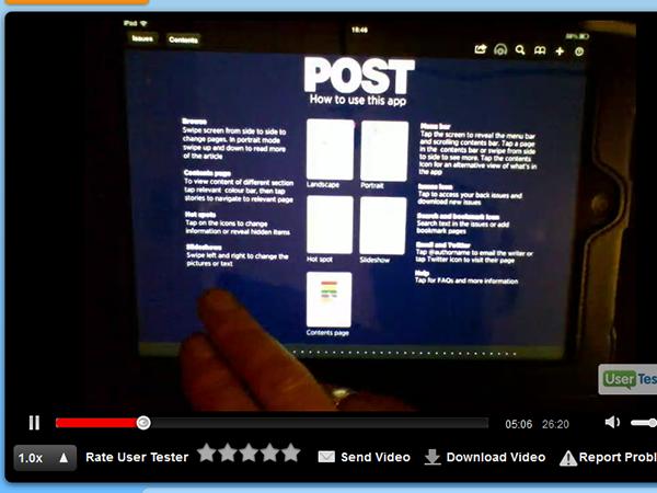 Remote testing on usertesting.com